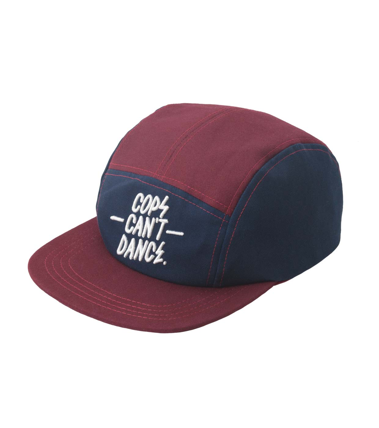 Mr. Serious Cops can t dance cap maroon red  blue - 5 panel snapback cap  made of cotton aafb0ebea58