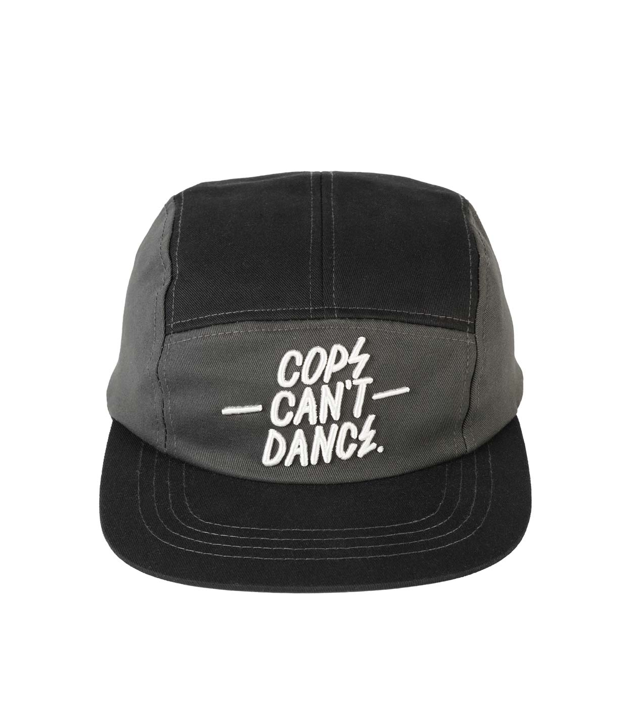 Mr Serious Cops can t dance cap black  grey - 5 panel snapback cap ... ae532b08a16