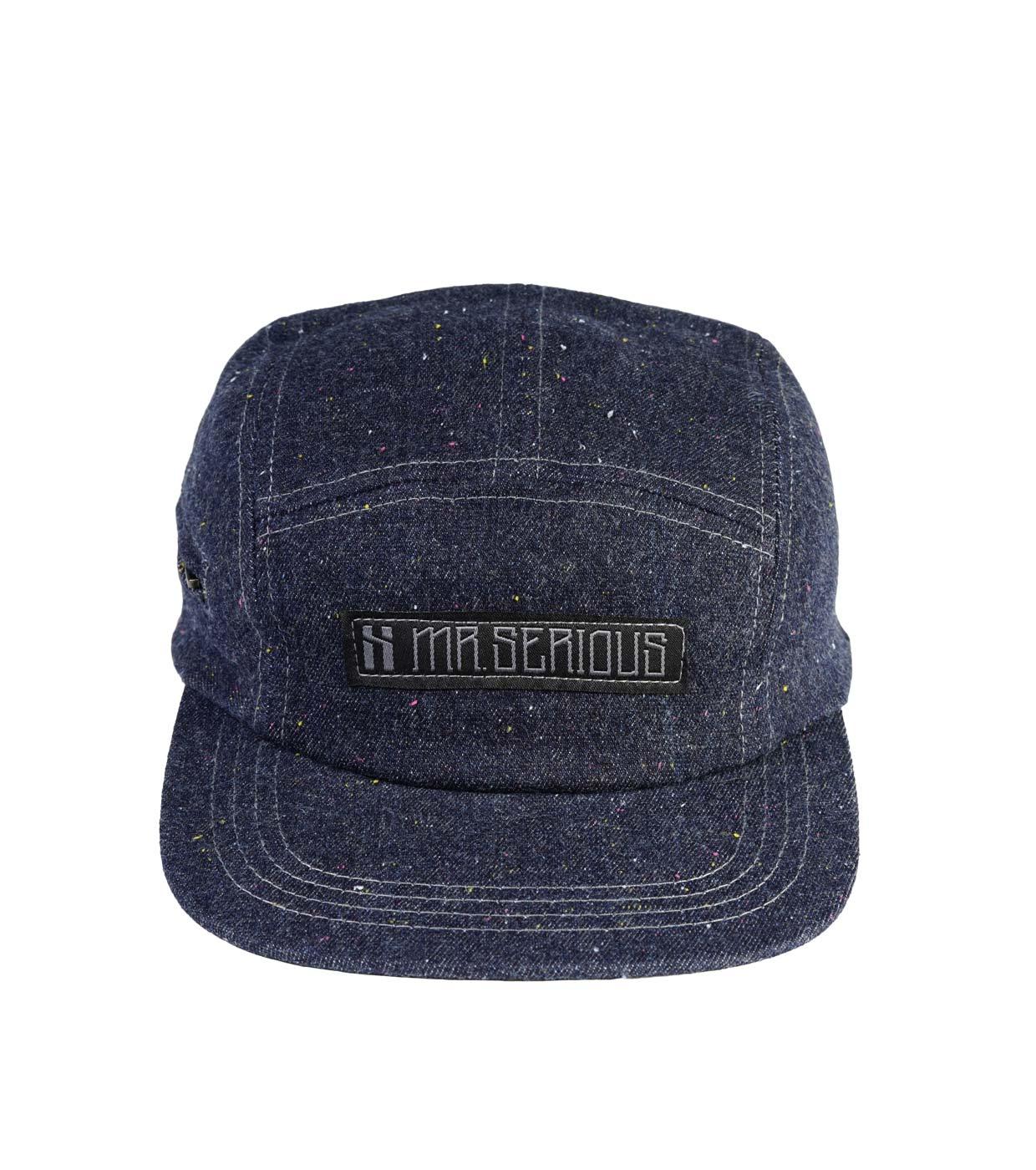 da91d68f8c9f78 Mr Serious Zip Cap - 5 panel snapback cap made of blue denim, pocket ...